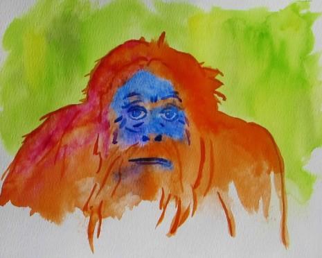 March 2018 Orangutan - Watercolor.JPG